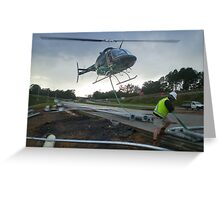Helicopter work Greeting Card