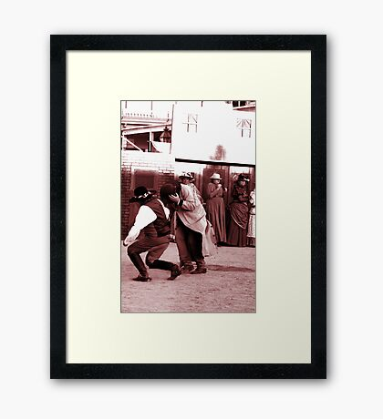 Oh My, Two More Shot... Framed Print