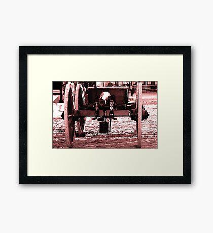 Resting Cannon Framed Print