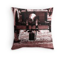 Resting Cannon Throw Pillow