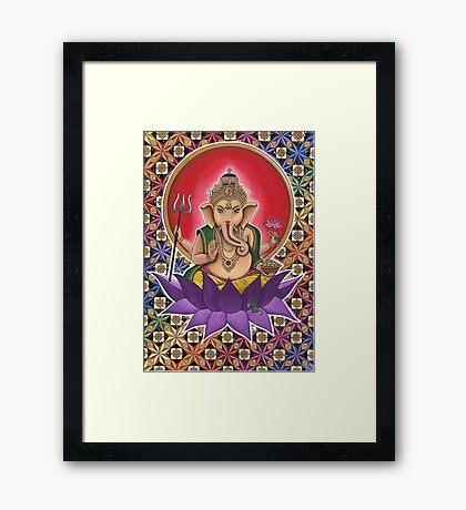 The Cosmic Geometric Ganesh Framed Print