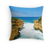 the Edge of Thunder Cave Throw Pillow