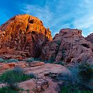 Valley of Fire Golden Hour by photosbyflood