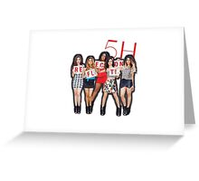 Fifth Harmony Reflection Tour Merch Greeting Card
