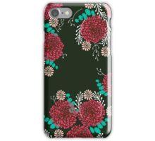 Chrysanthemums - Floral, Flower, Vintage, Design, Illustration by Andrea Lauren iPhone Case/Skin