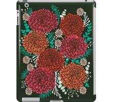 Chrysanthemums - Floral, Flower, Vintage, Design, Illustration by Andrea Lauren iPad Case/Skin