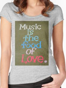 Music And Love Women's Fitted Scoop T-Shirt
