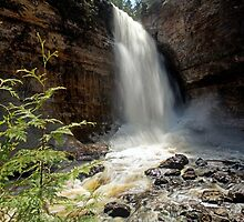 Miners Falls - Pictured Rocks - Michigan by Craig Sterken