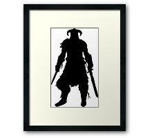 Skyrim Character Silhouette Framed Print