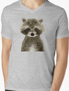 little raccoon Mens V-Neck T-Shirt