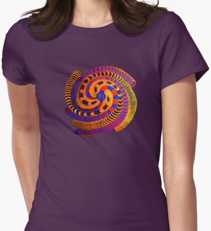 Spiraling Vision Within Womens Fitted T-Shirt