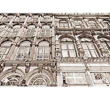 Facades - line art Photographic Print
