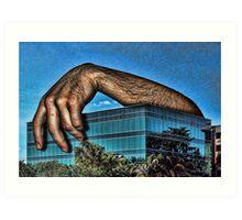 Embracing a Boring Building Art Print