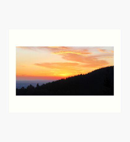 Sunset, Mount Macedon Art Print