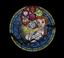 Belle Stained Glass by MazukiArts