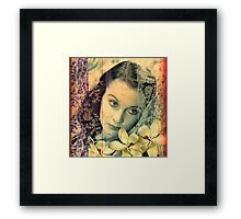 Scarlett Leigh with Magnolias from Tara Framed Print