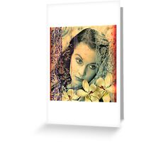 Scarlett with Magnolias Greeting Card