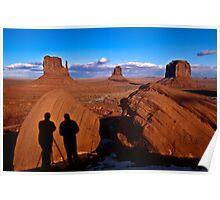 Monument Valley with Tom and Duke's Shadows, Utah/Arizona Border, Southwest United States Poster