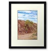 The Ochre Pits Framed Print