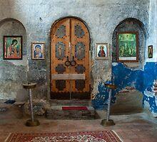 Interior of Small Church, Uplistsikhe, Republic of Georgia by acaldwell