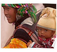Woman and Child, Sapa, Northern Vietnam Poster