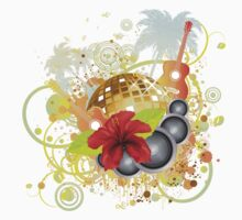 Tropical party poster Kids Clothes