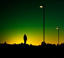the sun set green. by Darren Foley