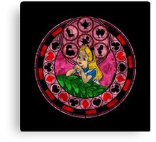 Alice Stained Glass Canvas Print