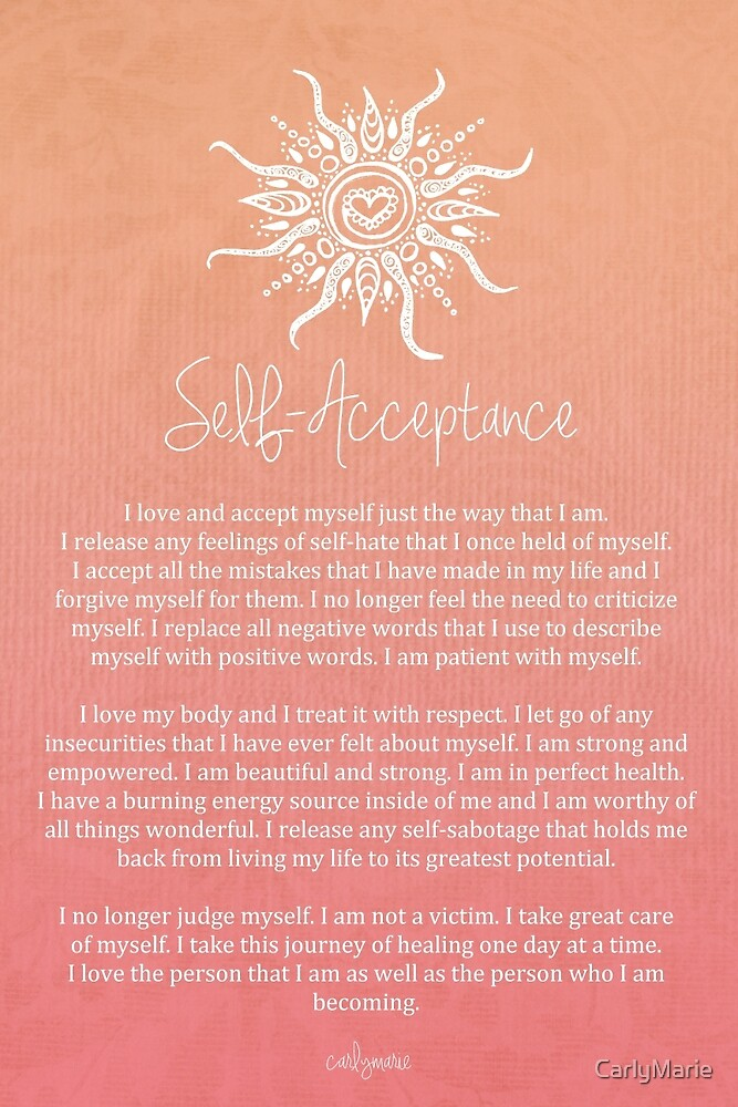 Affirmation - Self-Acceptance by CarlyMarie