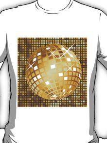 Golden disco ball T-Shirt