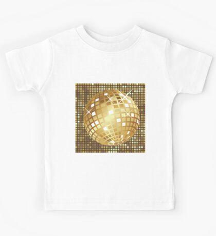 Golden disco ball Kids Tee