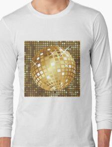Golden disco ball Long Sleeve T-Shirt