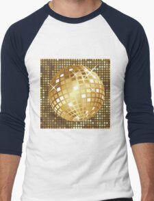 Golden disco ball Men's Baseball ¾ T-Shirt