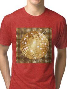 Golden disco ball Tri-blend T-Shirt