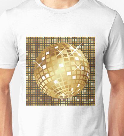 Golden disco ball Unisex T-Shirt