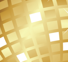 Golden disco ball Sticker