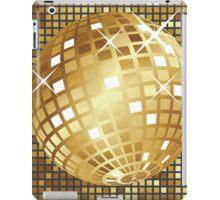 Golden disco ball iPad Case/Skin