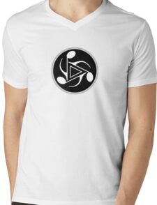 Music 3 Notes  b&w Mens V-Neck T-Shirt
