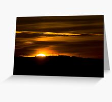 Glasgow Sunset Greeting Card
