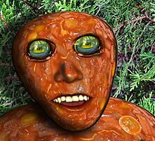 Tomato Sauce Face Man by GolemAura