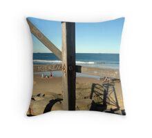 Lifesaver's Tower: Redhead Beach Throw Pillow