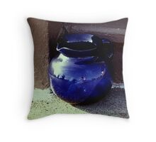 Blue Jar Throw Pillow