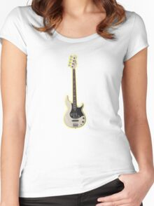 White bass guitar Women's Fitted Scoop T-Shirt