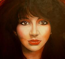 Kate Bush portrait by catwixen