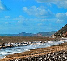 Branscombe Beach Devon UK by lynn carter
