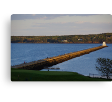 Evening Stroll ~ Rockland Breakwater Lighthouse, Maine Canvas Print