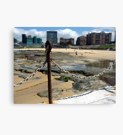 Newcastle Baths and Beach Canvas Print