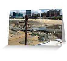 Newcastle Baths and Beach Greeting Card