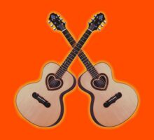 Double acoustic Guitar heart by tenerson