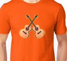 Double acoustic Guitar heart Unisex T-Shirt